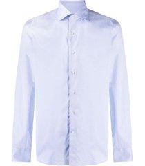 canali plain cutaway collar shirt - white