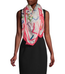 multi logo square scarf