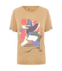 t-shirt playground eco - marrom