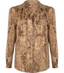 blouse paisley print bruin