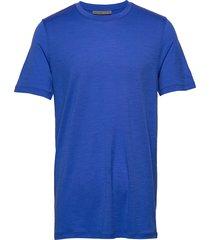 mens tech lite ss crewe t-shirts short-sleeved blå icebreaker