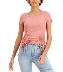 crave fame juniors' double-drawstring top