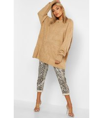 oversized rib knit boyfriend sweater, sand