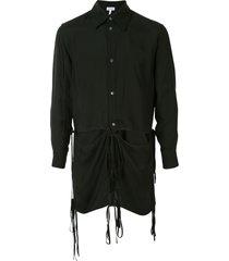 loewe detachable tie fastening hem shirt - black