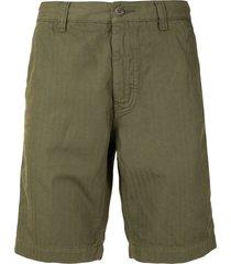aspesi shadow-striped tailored shorts - green