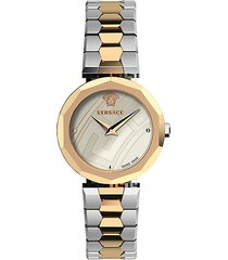 idyia two-tone stainless steel bracelet watch