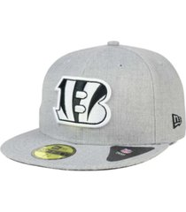 new era cincinnati bengals heather black white 59fifty fitted cap