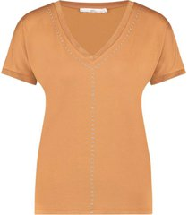 aaiko faith 322 t-shirt noisette