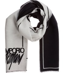 emporio armani double question mark scarf