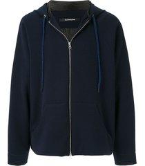 à la garçonne zipped raglan sleeves jacket - blue