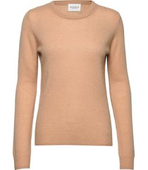 pure cashmere o-neck pullover stickad tröja beige sparkz copenhagen