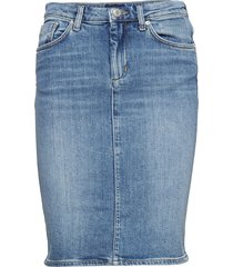 d1. blue denim skirt knälång kjol blå gant