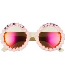 women's rad + refined maid of honor round sunglasses -