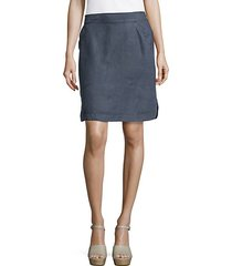 two palms linen short skirt