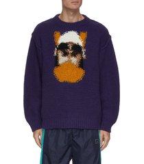 hand knit jacquard sweater