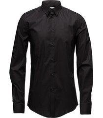 m. paul stretch shirt overhemd business zwart filippa k