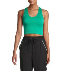 nine west women's smooth seamless active top - jade - size s/m