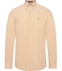 slim oxford shirt bd skjorta business gul gant