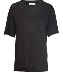 uta ss 10172 t-shirts & tops short-sleeved svart samsøe samsøe