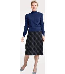 varm och skön kjol mona blå::grå