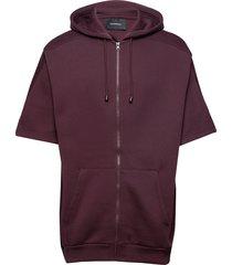 w bounce zip hood hoodie trui paars peak performance