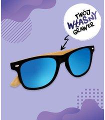 okulary przeciwsłoneczne z oprawkami z własnym nadrukiem