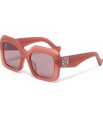 square frame acetate anagram oversized sunglasses