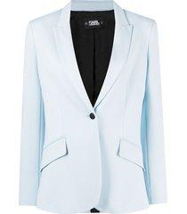 karl lagerfeld summer punto jacket - blue