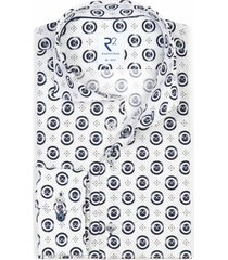 r2 westbrook overhemd knopen print widespread modern fit