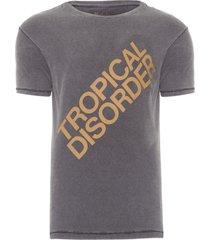 t-shirt masculina tropical disorder - cinza