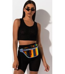 akira adore you mesh crop top