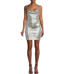 harmie metallic mini dress