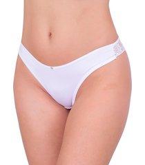 tanga sexy vip lingerie fio duplo branco - kanui