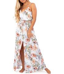 women's rip curl playa blanca maxi dress, size x-small - white
