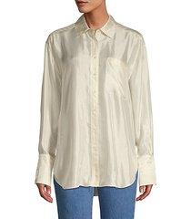 turner striped satin blouse