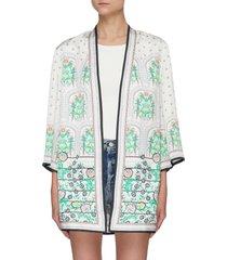 floral print reversible kimono