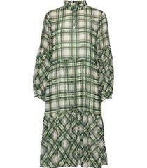 chekkakb dress knälång klänning grön karen by simonsen
