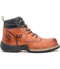 bota coturno adventure em couro caterpillar trivalle shoes masculino