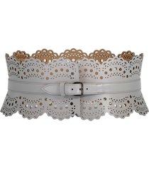 grey wide waist belt