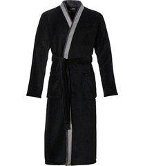ten cate badjas met shawlkraag zwart