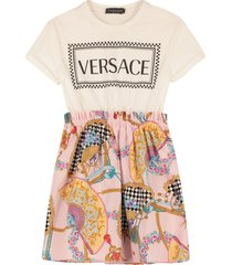 young versace printed cotton dress