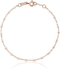 gigi clozeau 18kt rose gold classic gigi baby pink beaded bracelet