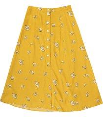falda amarillo-verde-blanco gap