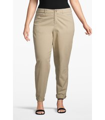 lane bryant women's boyfriend chino 28 palomino tan