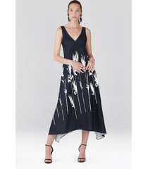 natori bamboo fluid crepe slip dress, women's, size m