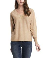 women's embellished v-neck dolman sleeve sweater
