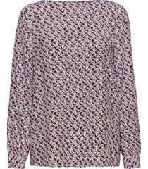 d1. autumn print viscose blouse blouse lange mouwen roze gant