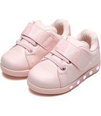 tênis pampili menina sneaker luz rosa
