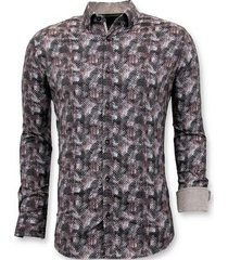 overhemd lange mouw tony backer luxe blouse digitale print
