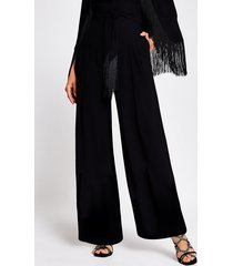 river island womens black wide leg trouser
